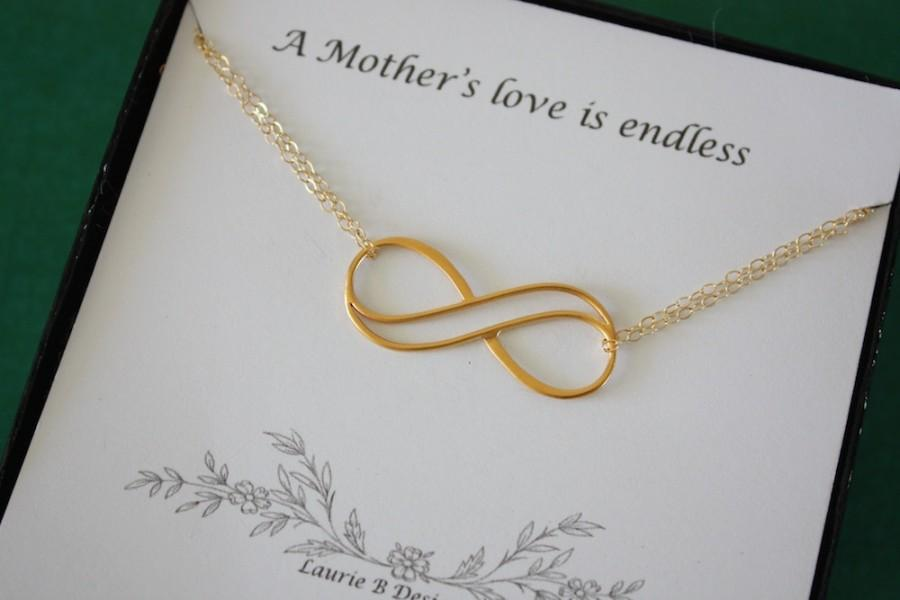 Infinity Mother Gift Gold Mom Necklace Endless Love Thank