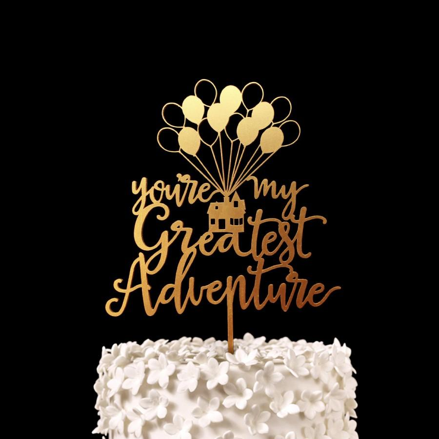 Our Greatest Adventure Cake Topper