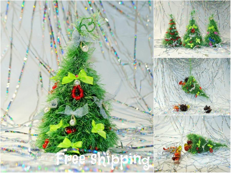 Свадьба - Christmas decoration Christmas stocking Christmas fir tree Holiday ornament Cute office, home, cubicle decor Fireplace mantel New Years gift