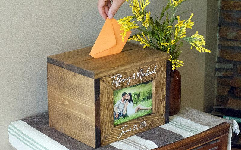 Wedding Card Box, Personalized Wedding Card Box, Money Box, Rustic ...
