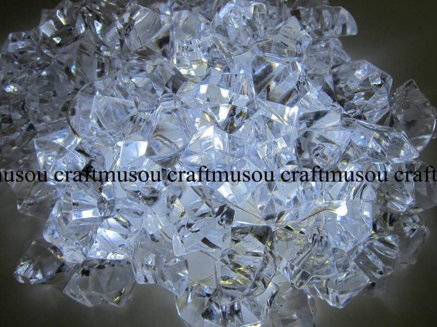 Hochzeit - Bulk 10 Bag Crystal Clear Gem Stone ICE Rocks Confetti Wedding Reception Table Scatter Decoration