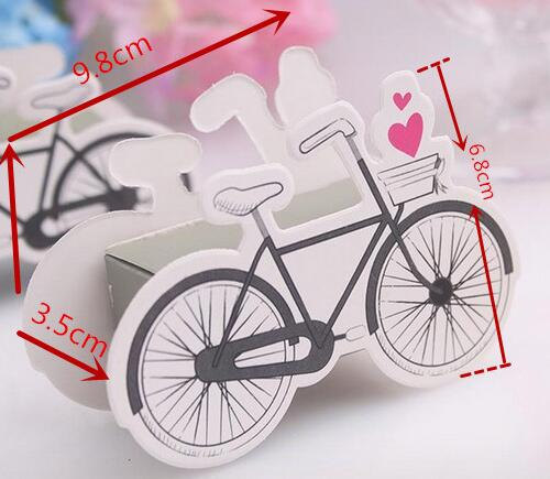 Mariage - 50pieces free shipping Bike Design Wedding Candy Packaging Box,Christmas /Baby Shower Party Favor Paper Gift Packaging Boxes,Party Favors