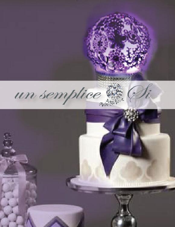 Hochzeit - Cake Topper,Rhinestone Brooch Centerpiece