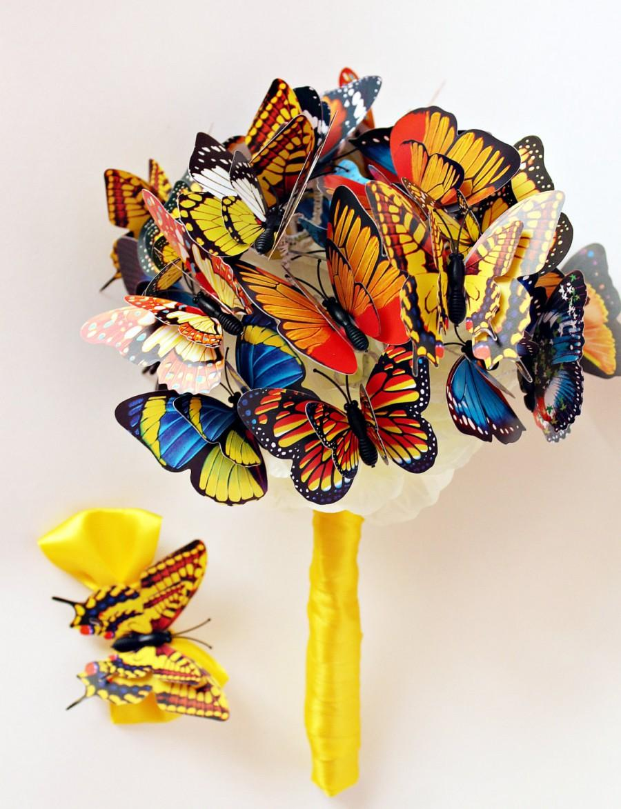 Butterfly Bouquet Fairy Tales Wedding Bridal Multicolor Girlfriend Gift Anniversary Birthday Party Mother Engagement Ideas