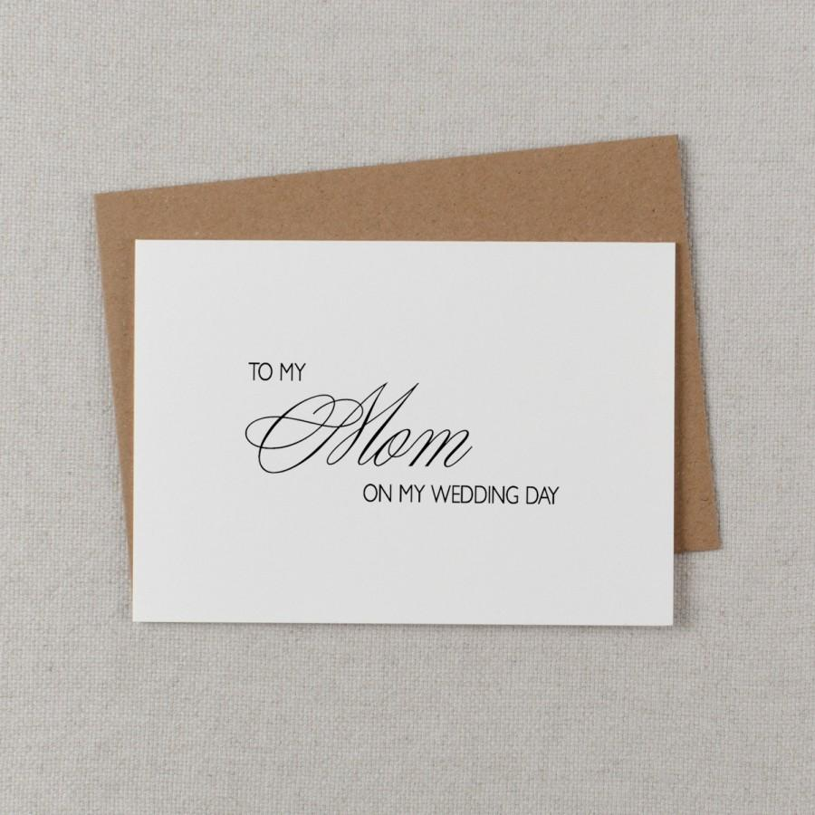 Mariage - Wedding Card To My Mom Wedding Day - To My Mother Wedding Card, Wedding Stationery, To My Mom, Thank You Wedding Card, Wedding Note, K4