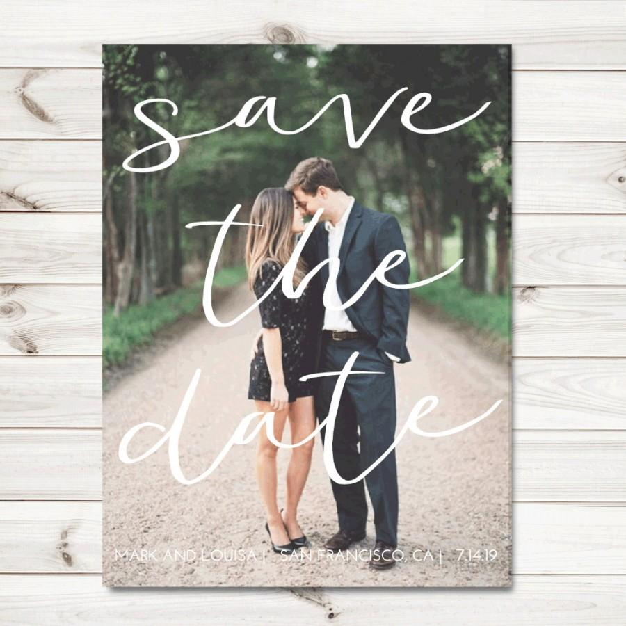 Mariage - Photo Save the date cards, fall save the date cards, PRINTABLE save the date