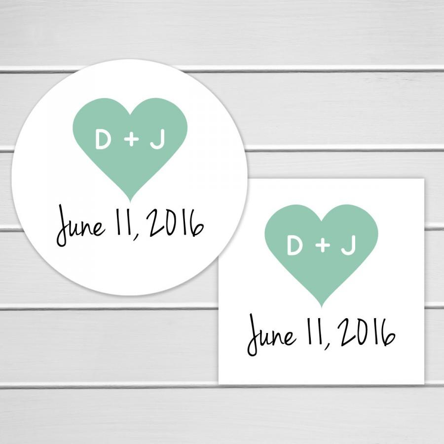 Mariage - Wedding Stickers, Wedding Favor Stickers, Envelope Seals, Calendar Stickers, Save The Date Stickers (#129)