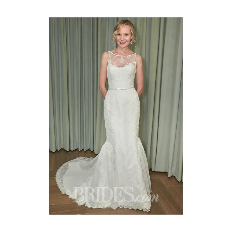 Свадьба - Amy Kuschel - 2014 - Monroe Sleeveless Lace Trumpet Wedding Dress with Sheer Bateau Neckline - Stunning Cheap Wedding Dresses