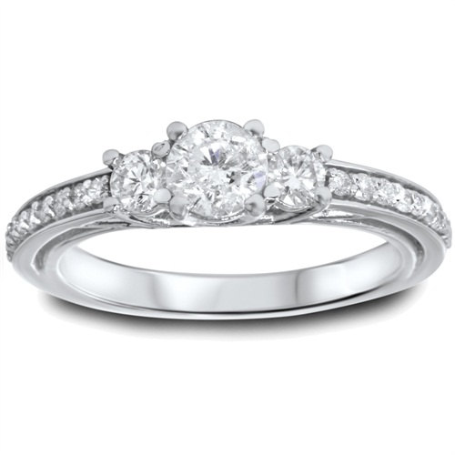 Mariage - 1.25CT 3-Stone Diamond Ring 14K White Gold