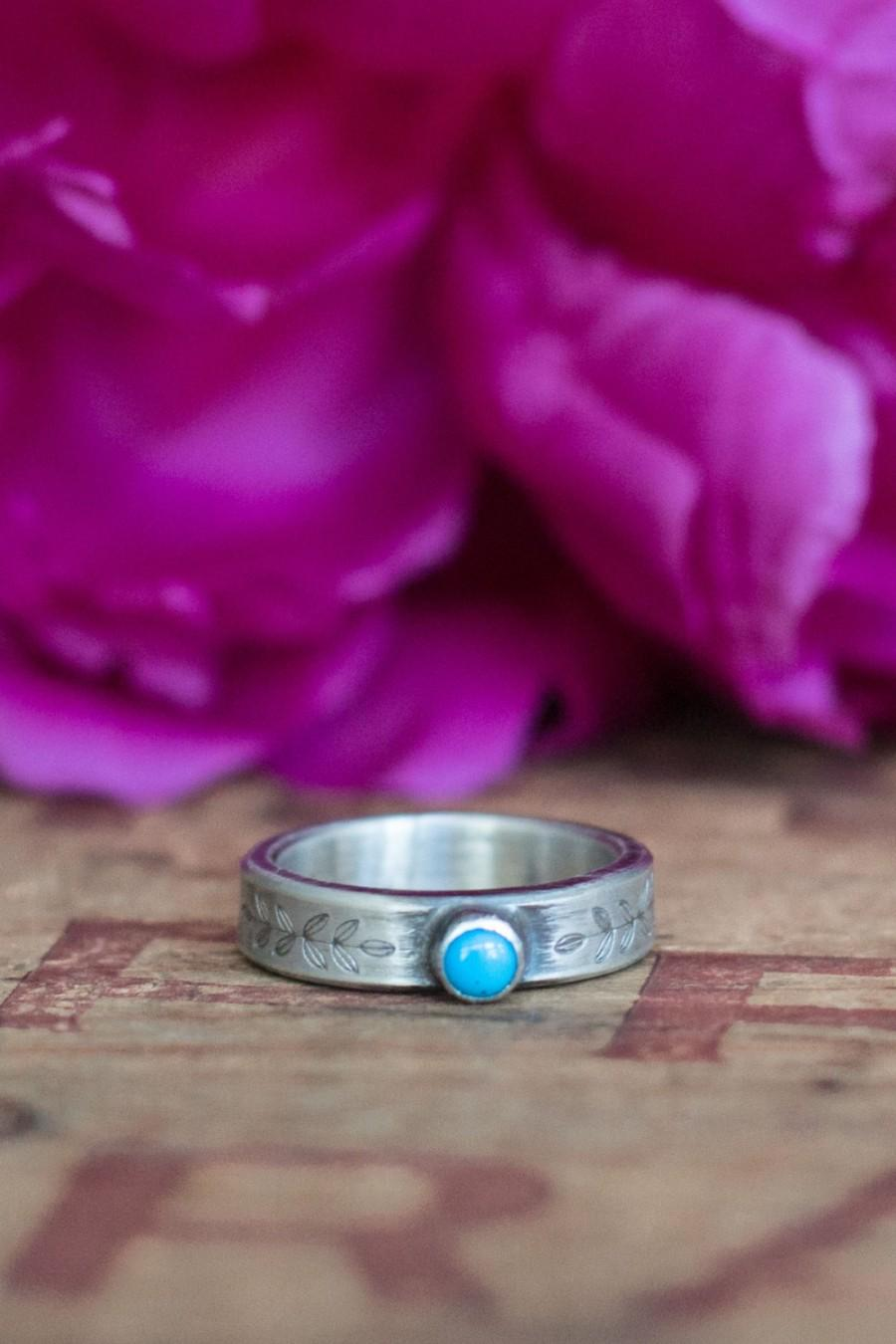Alternative Silver Wedding Gifts : WeddingAlternative Engagement RingTurquoise and Sterling Silver ...