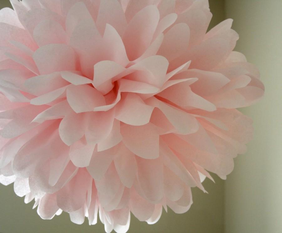 Blush 1 Tissue Paper Pom Pom Wedding Decorations Diy