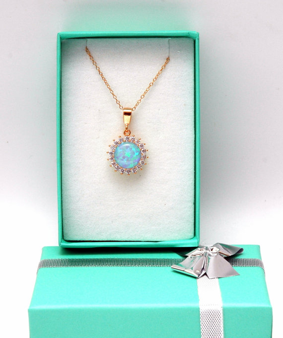 Blue opal necklace rose gold necklace cz diamond necklace rose blue opal necklace rose gold necklace cz diamond necklace rose gold pendant sterling silver necklace opal jewelry mozeypictures Gallery