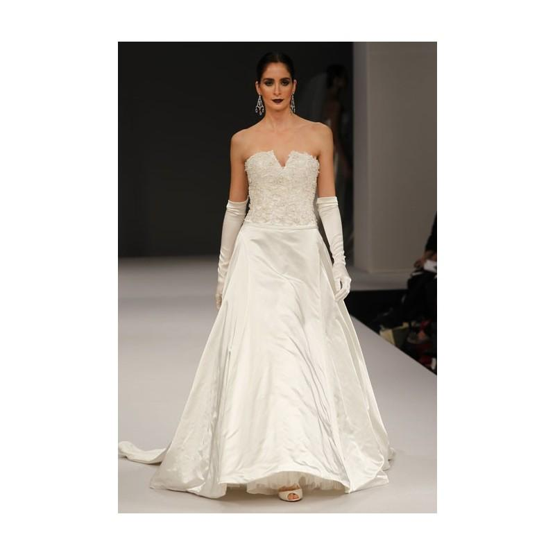 Anne barge fall 2012 walden strapless silk satin a for Cheap wedding dresses sale