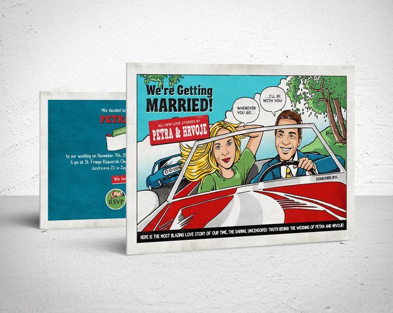 Printable Wedding Invitation / Retro Comic, Digital File, DIY ...