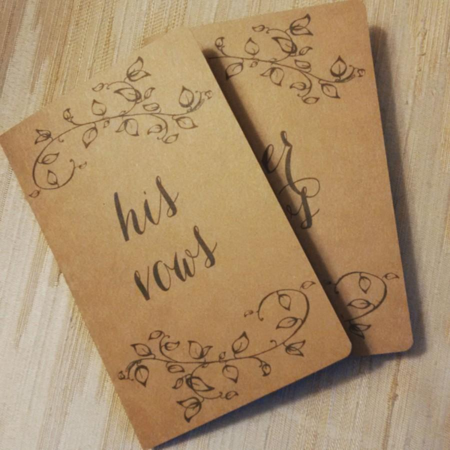 Wedding - His / Hers Vow Cards - Kraft