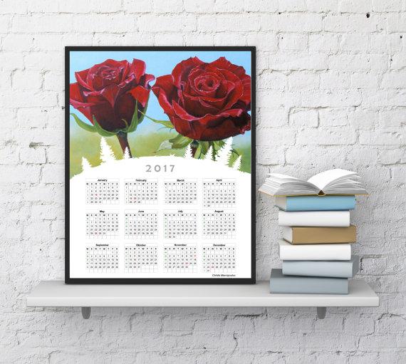 Wall Calendar 2017 2597445 Weddbook