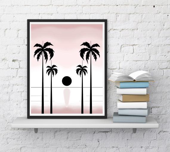 Mariage - Tropical Print, Tropical Decor, Tropical Printable Art, Tropical Digital Art, Palms Print, Sun print, Romantic wall art,InstantDownloadArt1