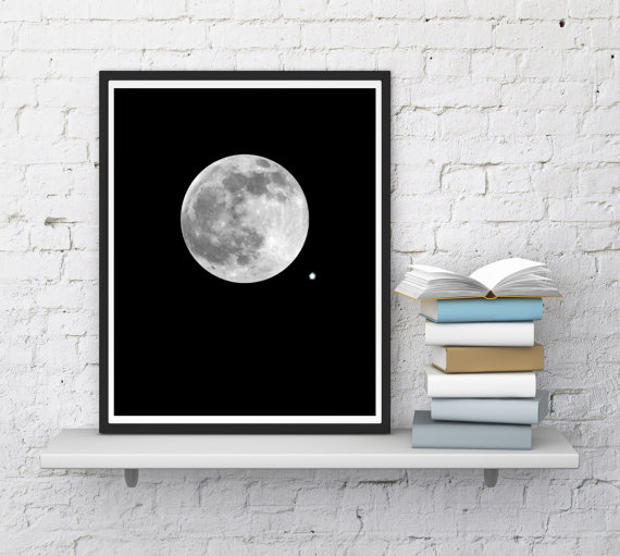 picture relating to Moon Printable known as Moon Print Artwork, Finish Moon Print, Moon Printable, Moon