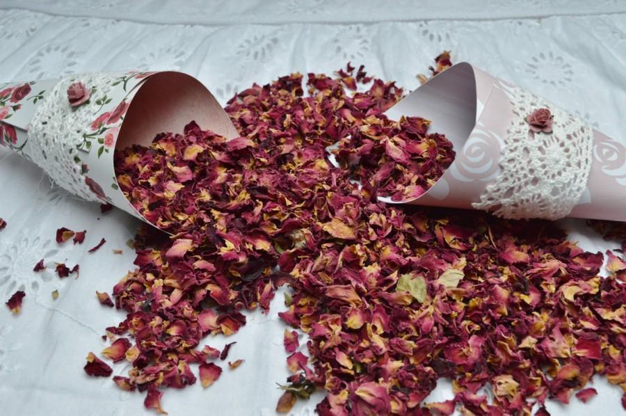 Mariage - Rose petals, Petals for confetti, Biodegradable confetti,  Petals,  Confetti for cones,  Petals for baskets
