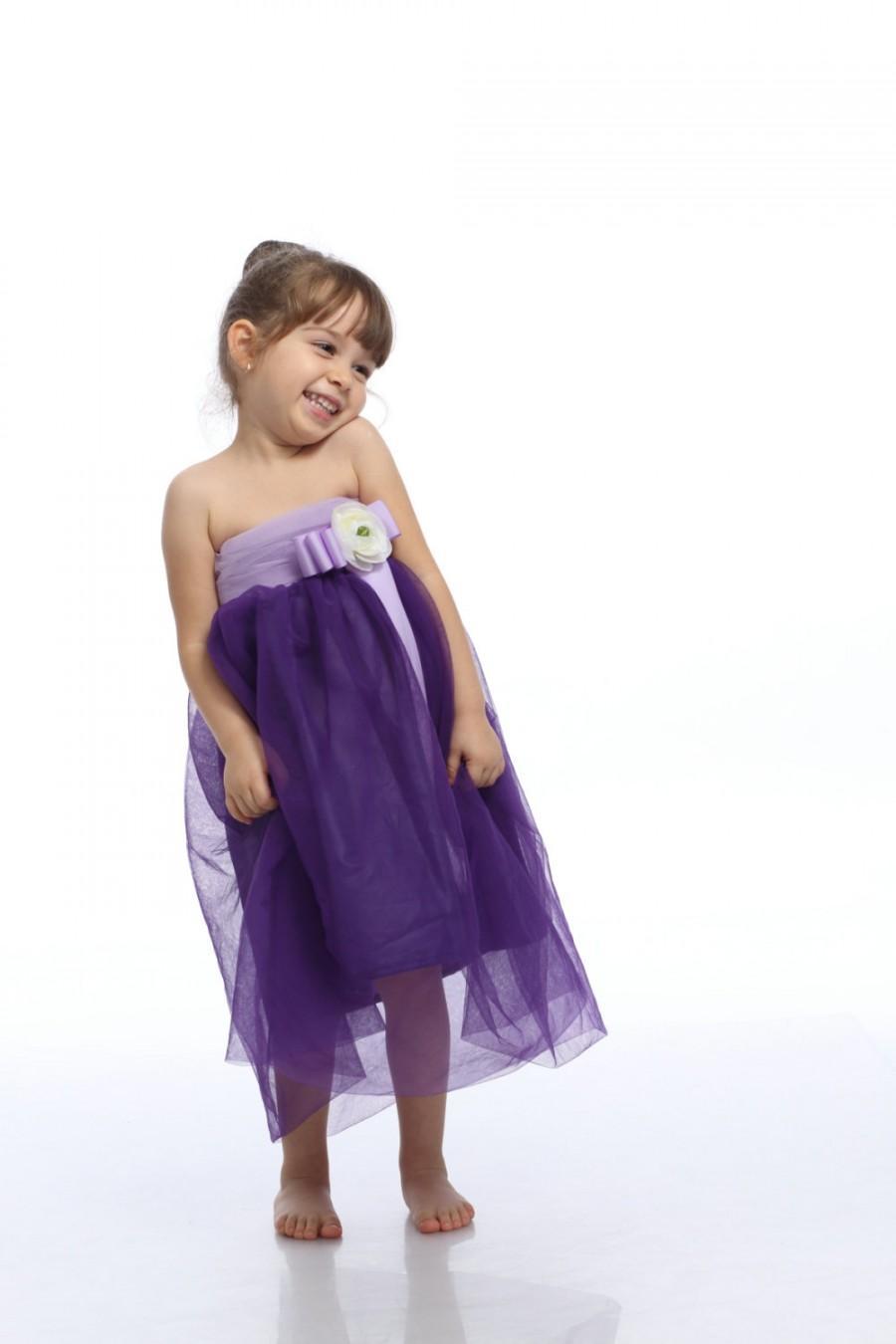Lavender Dress Kid Gown Purple Tutu Toddler Fairy Birthday Concert