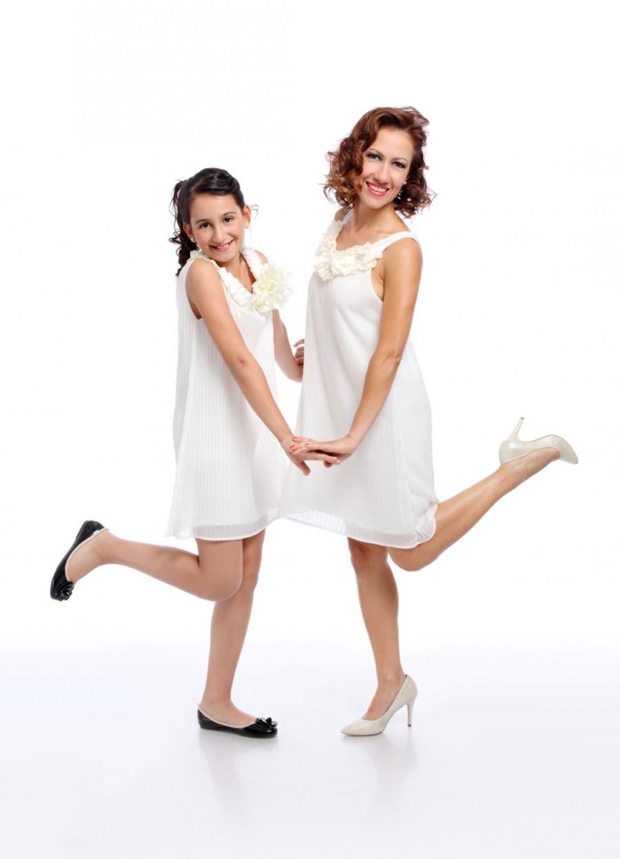 Свадьба - Ivory Dress, Bridesmaid Dress, Wedding Dress,Flower girl dress,Junior Bridesmaid Dress