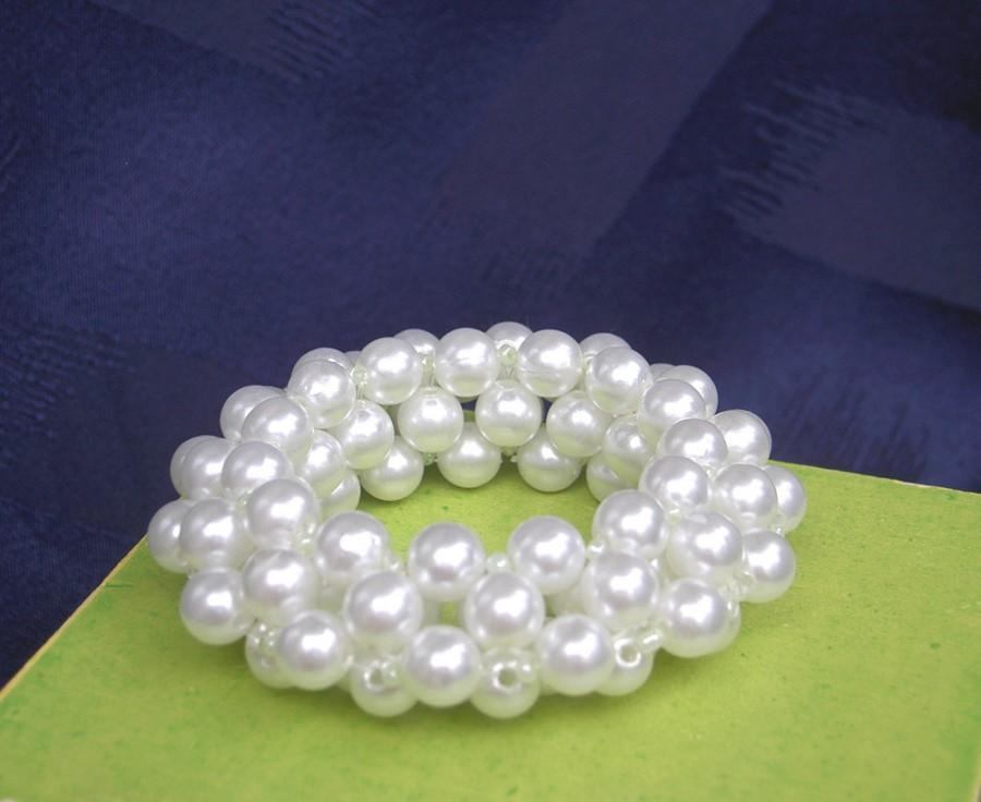Wedding - Pearl Napkin Rings - Beaded Napkin Rings - Wedding Napkin Rings - Set of 6
