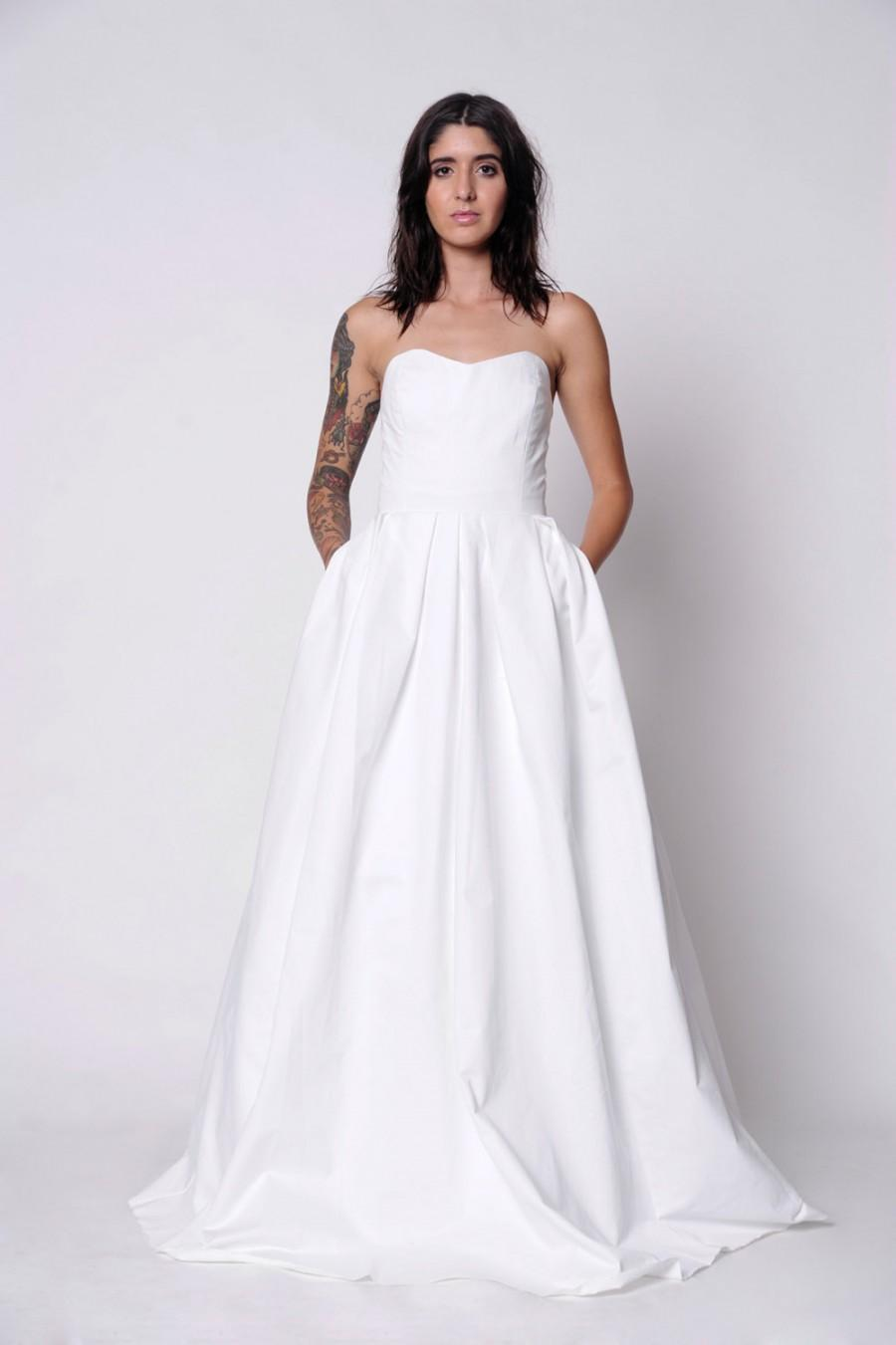 Wedding Gown With Pockets. Midnight Skies Wedding Gown. Strapless ...