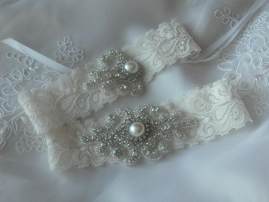 Wedding - Wedding Garter, Bridal Garter, Vintage Wedding, Wedding Garter Set