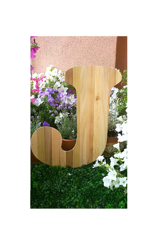 Wedding - Wood letter. Family Gift, Wooden Letter, Home decor. Wedding decor. Guest book.