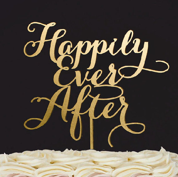 Wedding - Wedding Cake Topper- Happily Ever After