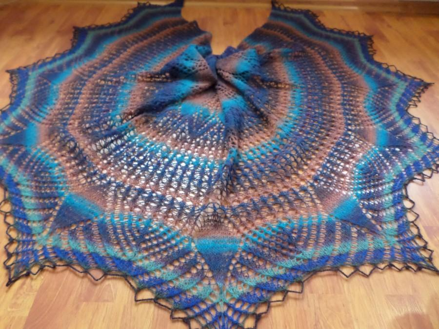 Wedding - large knit shawl Warm shawl Gift for her Christmas gift Shawl cape Knitted winter shawl woolen shawl Gift for mom winter wrap Fashion shawl