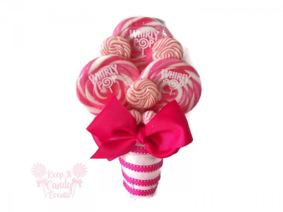 Pink Bridesmaid Lollipop Bouquet, Pink Wedding Ideas, Pink ...