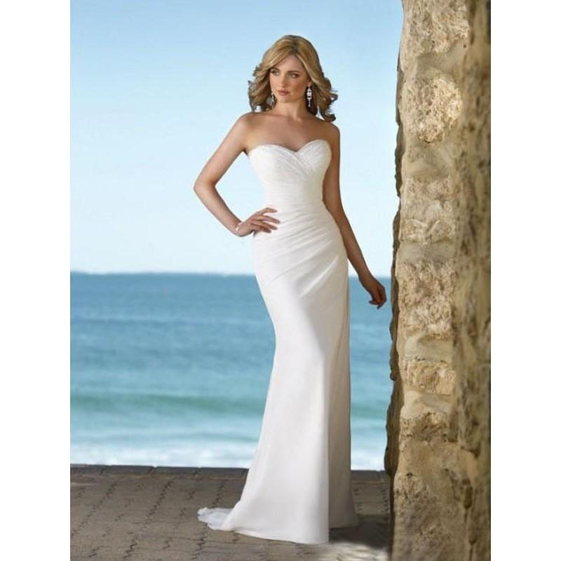 Mariage - Sweeetheart Neckline with Sexy Mermaid Style Chiffon Wedding Dress In Canada Wedding Dress Prices - dressosity.com