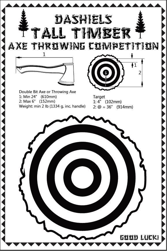 Hochzeit - LumberJack Axe Throwing Competition PDF Poster - CUSTOM DIY