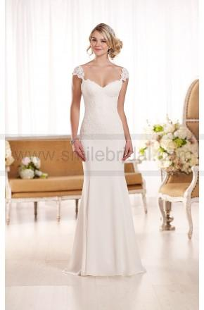 Свадьба - Essense of Australia Lace Cap Sleeve Wedding Dress Style D1897