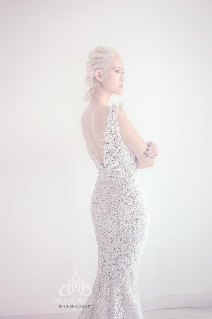 Wedding - Lace mermaid dress with guipure embroidery from Meera Meera
