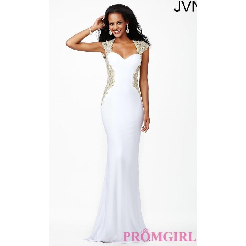 Wedding - Long Sweetheart Open Back Gown JVN25411 from JVN by Jovani - Discount Evening Dresses