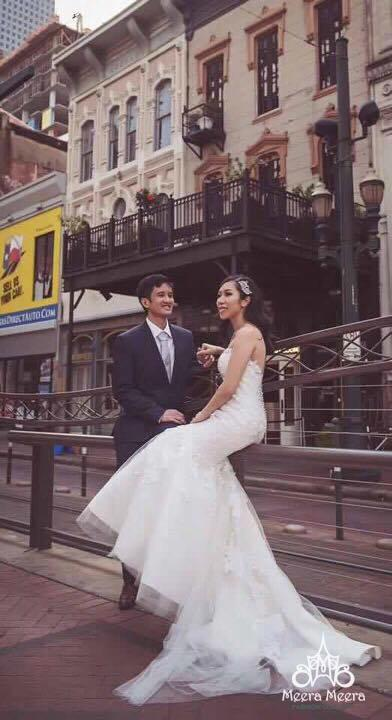 Wedding - Sweetheart Trumpet lace Wedding Dress with crystal Beaded details from Meera Meera