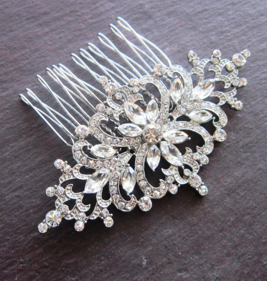 Свадьба - Bridal hair comb. Art Deco Crystal Bridal Hair Comb
