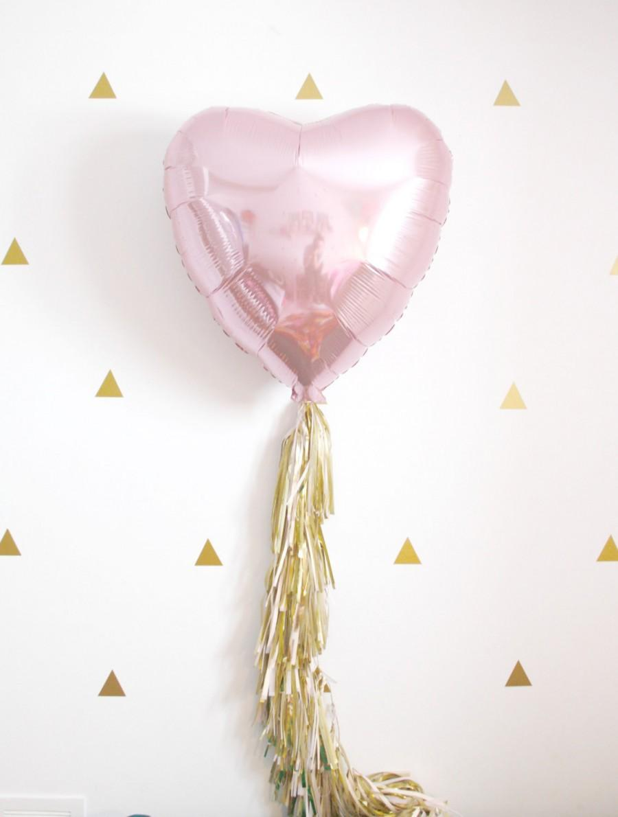 Rose Gold Heart Tassel Balloon, Dusty Rose Blush And Gold Party ...