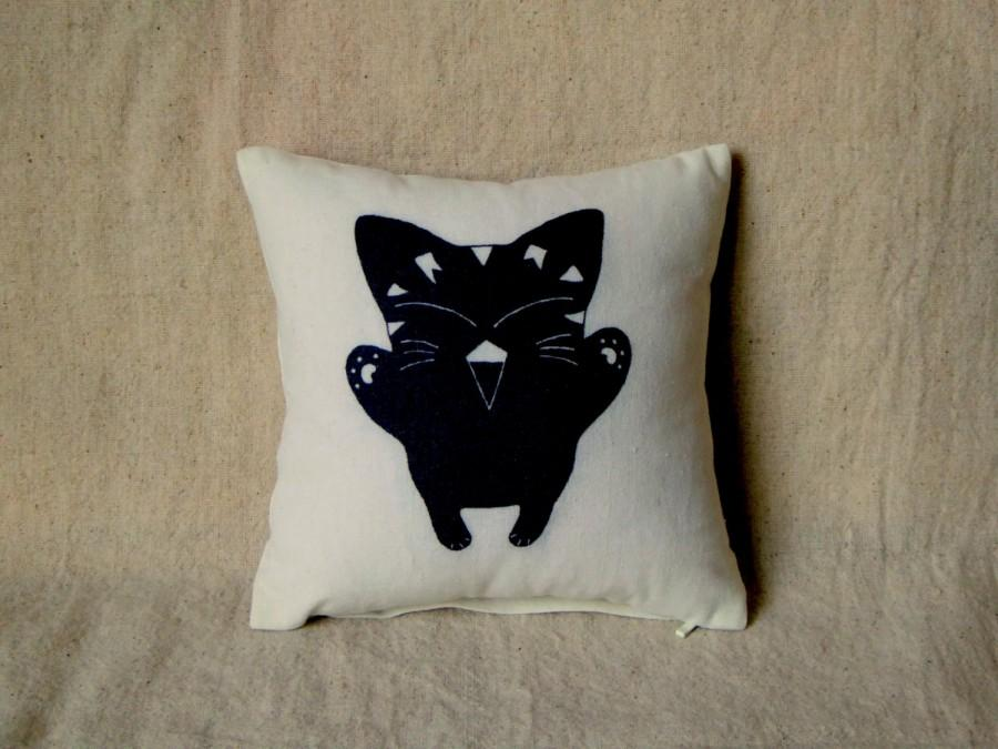 40x40 Cute Halloween Decor Pillow Black Cat Mini Pillow Small Kawaii Magnificent Small Decorative Throw Pillows