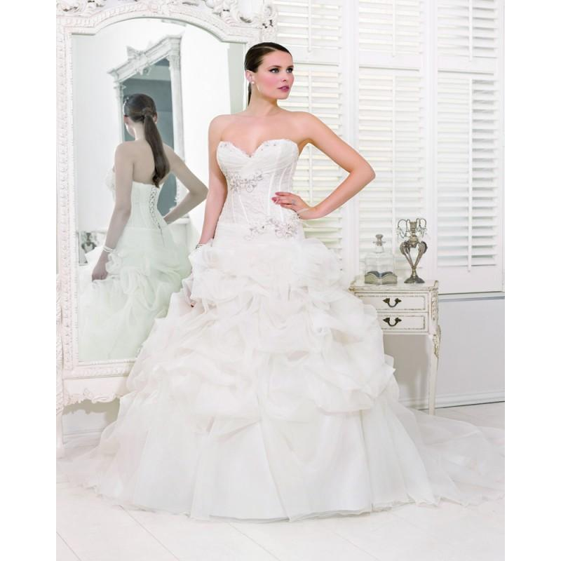 Wedding - Honorable Ball Gown Sweetheart Beading Lace Ruching Sweep/Brush Train Organza Wedding Dresses - Dressesular.com