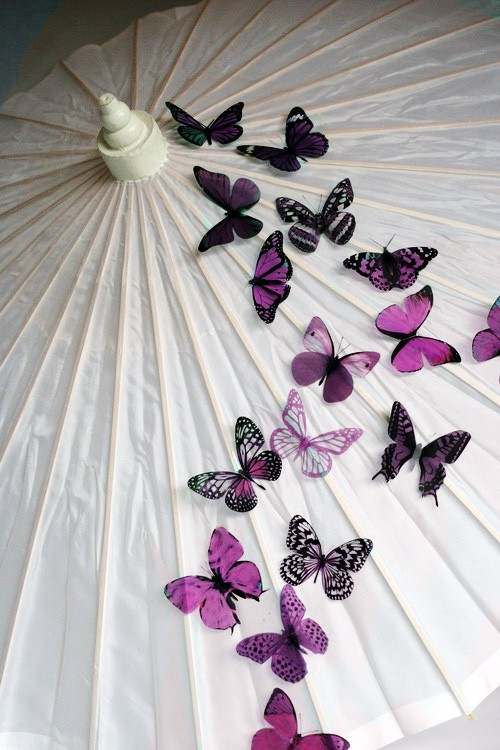 Mariage - 20 pack of Plum Butterflies great for decorations, Cake Toppers, table decor or childrens rooms