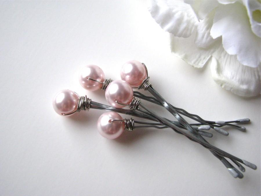 Mariage - Light Pink Hair Pin Pearls