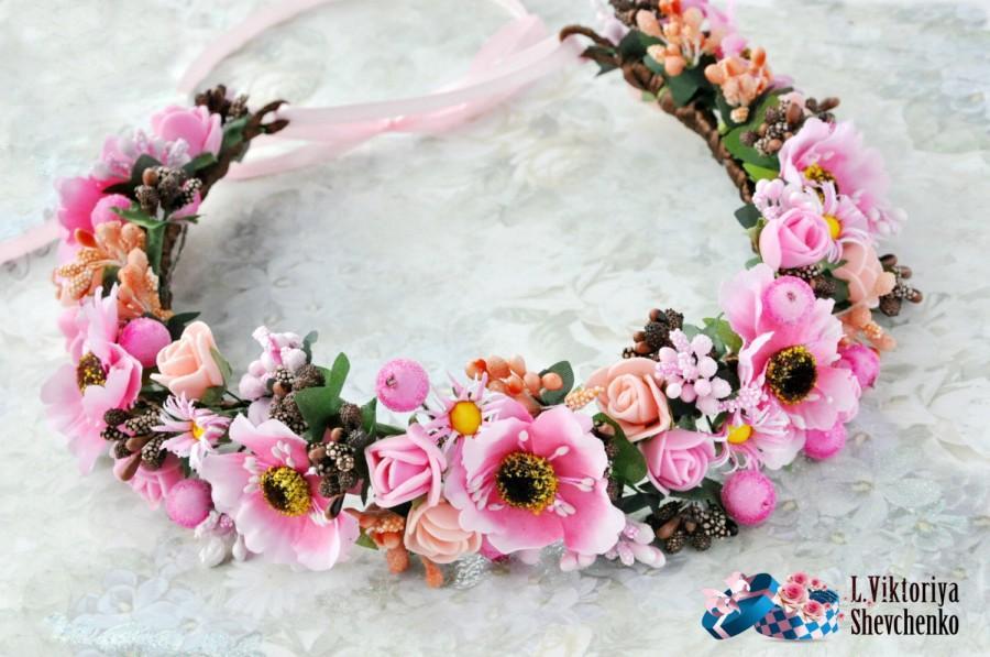 Floral Crown Flower Halo Bridal Flower Crown Wedding Flower Crown Hair