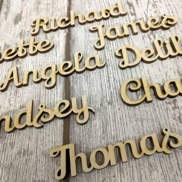 PLACE NAME SETTINGS Wedding Decor Table Rustic Place Settings Favours