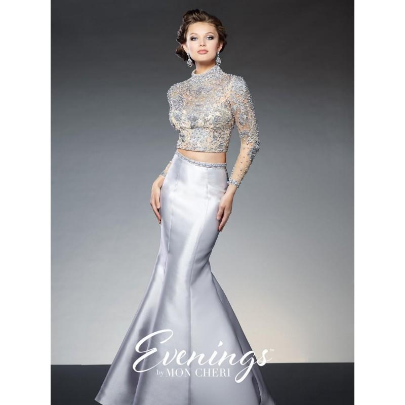 Свадьба - Evenings by Mon Cheri TBE21531 Long Sleeve 2pc Dress - Brand Prom Dresses