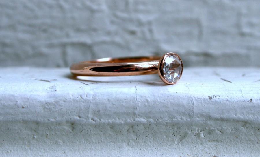 Свадьба - Rose Cut Diamond Solitaire.