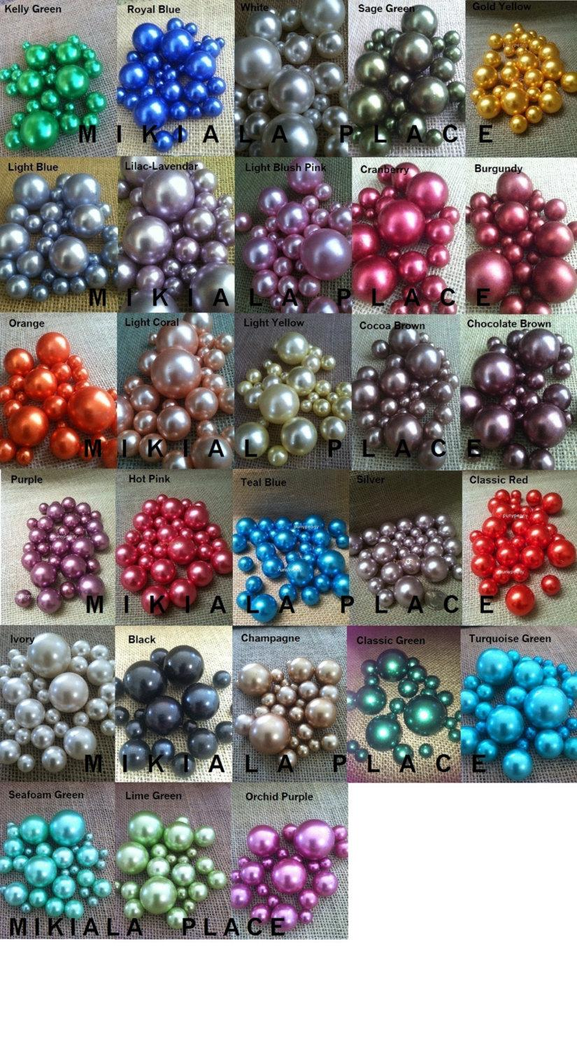 80pc Elegant Floating Pearl Gems For Home Accents Wedding Decor Table Confetti