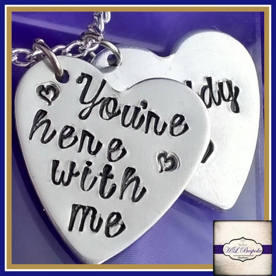 Свадьба - Personalised Bridal Anklet, Memory Walk With Me Anklet - Bridal Memorial Charm - YOU CHOOSE WORDING & Amount Of Hearts